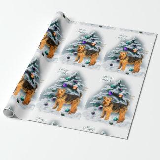 Papier Cadeau Noël de gallois Terrier