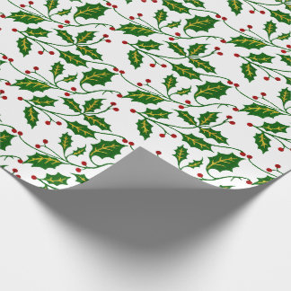 Papier Cadeau Noël de houx