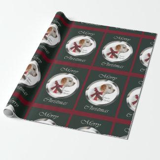 Papier Cadeau Noël d'épagneul de Clumber Joyeux