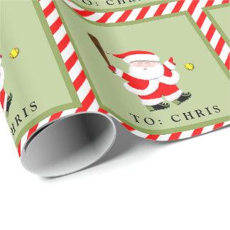 Papier Cadeau Noël du base-ball