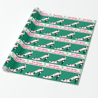 Papier Cadeau Noël mignon de chaussures rouge et vert