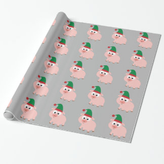 Papier Cadeau Noël mignon Elf de porc