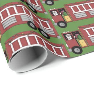 Papier Cadeau Noël Père Noël conduisant la partie de camion de