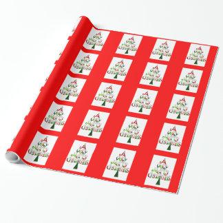 Papier Cadeau Noël très Joyeux du papier d'emballage A de Noël