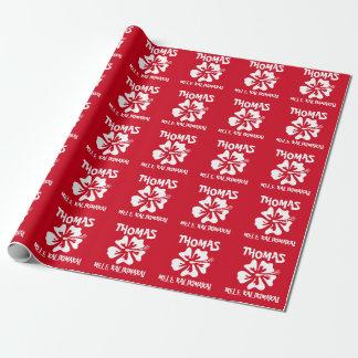 Papier Cadeau Noël tropical de fleur hawaïenne de Mele