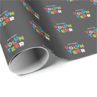 Papier Cadeau Nom fait sur commande, appréciation volontaire