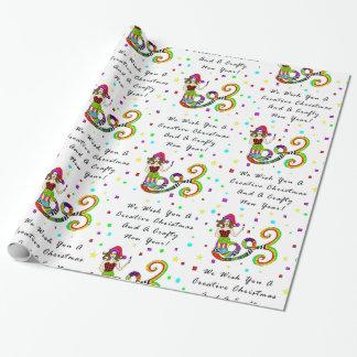 Papier Cadeau Nous vous souhaitons une sirène créative de Noël