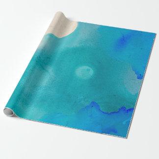 Papier Cadeau Océan de papier d'emballage d'aquarelle