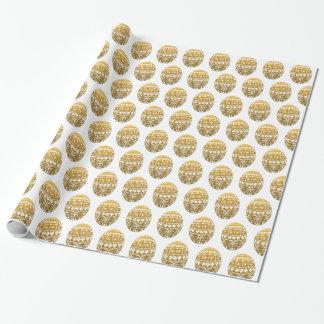 Papier Cadeau Oeufs de pâques d'or
