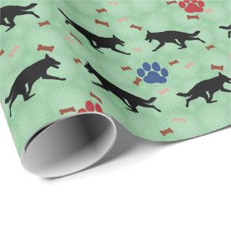 Papier Cadeau Ombre de chien de berger allemand