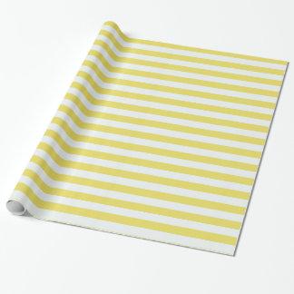 Papier Cadeau Or pâle et rayures blanches par Shirley Taylor