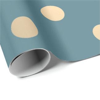 Papier Cadeau Or plus rusé en pastel de petit Aqua turquoise de