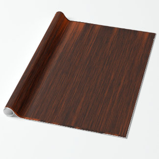 Papier Cadeau Orange/Brown et lignes noires motif