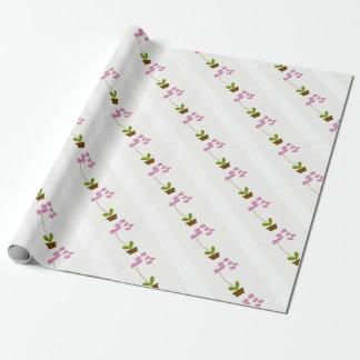 Papier Cadeau orchidées