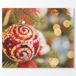 Papier Cadeau Ornement et lumières de Noël