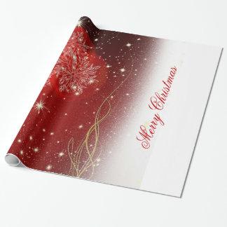 """Papier Cadeau Ornements de fête de flocons de neige de """"Joyeux"""