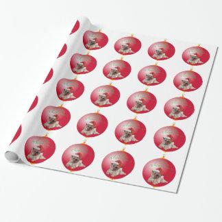 Papier Cadeau Ornements de Noël de Terrier de cairn