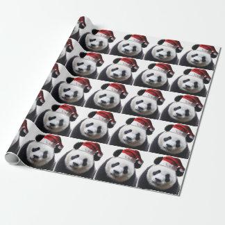 Papier Cadeau Ours panda de Noël
