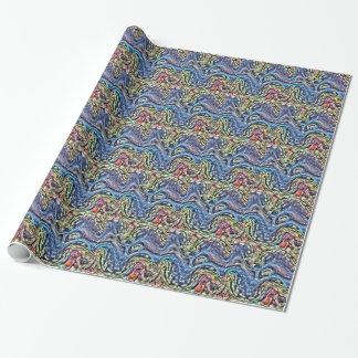Papier Cadeau Palourde colorée