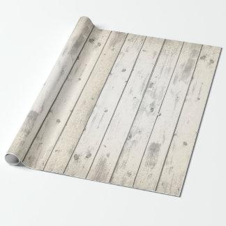 Papier Cadeau Panneaux patinés chics minables en bois rustiques