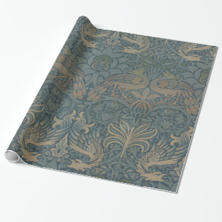 Papier Cadeau Paon et dragon GalleryHD de William Morris