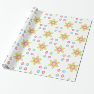 Papier Cadeau papier de fleurs