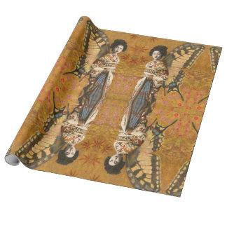 Papier Cadeau Papier d'emballage à ailes par cru de geisha