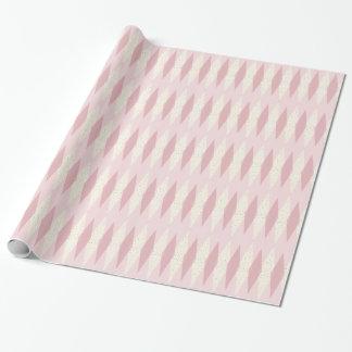Papier Cadeau Papier d'emballage à motifs de losanges rose