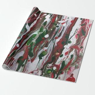 Papier Cadeau Papier d'emballage abstrait de Noël fou