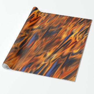 Papier Cadeau Papier d'emballage abstrait du feu et de glace