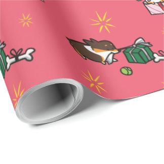 Papier Cadeau Papier d'emballage actuel de chiot de corgi