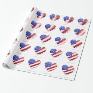 Papier Cadeau Papier d'emballage américain d'enveloppe de cadeau