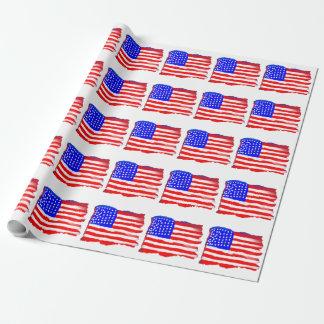 Papier Cadeau Papier d'emballage artistique de drapeau américain