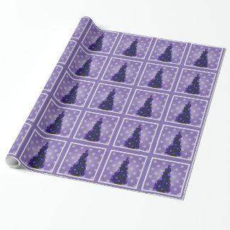 Papier Cadeau Papier d'emballage assez pourpre d'arbre de Noël
