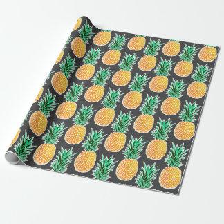 Papier Cadeau Papier d'emballage audacieux d'ananas géométrique