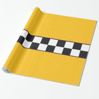 Papier Cadeau Papier d'emballage avec le taxi jaune