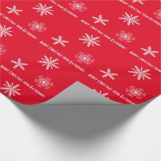 Papier Cadeau Papier d'emballage avec vos souhaits personnels,