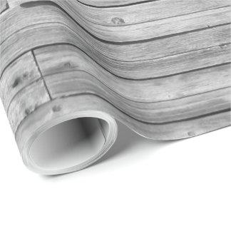 Papier Cadeau Papier d'emballage - bois patiné de grange