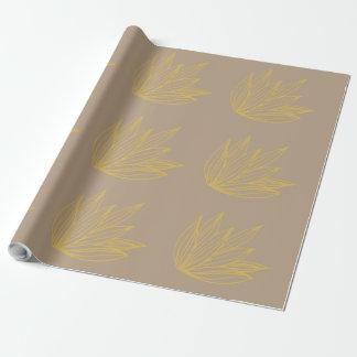 Papier Cadeau Papier d'emballage botanique de Lotus Papier