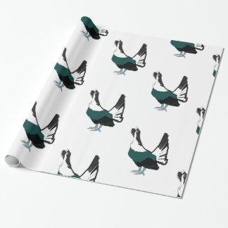 Papier Cadeau Papier d'emballage brillant d'art d'oiseau de