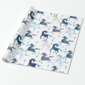 Papier Cadeau Papier d'emballage brillant de licornes courantes