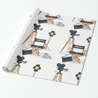 Papier Cadeau Papier d'emballage brillant réglé de cinéaste