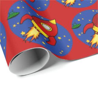 """Papier Cadeau Papier d'emballage brillant rouge 30"""" de Rocket x6"""