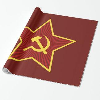 Papier Cadeau Papier d'emballage brillant rouge de marteau et de