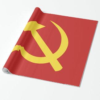 Papier Cadeau Papier d'emballage brillant russe de marteau et de