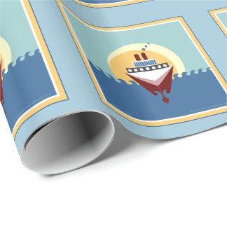 Papier Cadeau Papier d'emballage cadeau de bateau de croisière