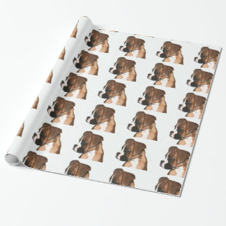 Papier Cadeau Papier d'emballage cadeau de chien de boxeur