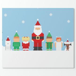 Papier Cadeau Papier d'emballage cadeau de Joyeux Noël