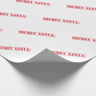 Papier Cadeau Papier d'emballage carrelé par timbre secret de