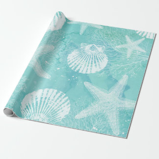 Papier Cadeau papier d'emballage côtier